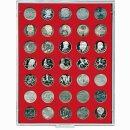 Münzenbox mit runden Vertiefungen Ø 31...
