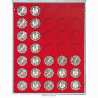 Münzenbox mit runden Vertiefungen Ø 32,5 (Lindner 2111)
