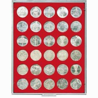 Münzenbox mit runden Vertiefungen Ø 36 (Lindner 2101)