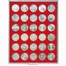 Münzenbox mit runden Vertiefungen Ø 36...