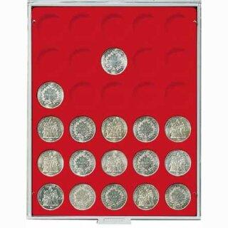 Münzenbox mit runden Vertiefungen Ø 37 (Lindner 2161)
