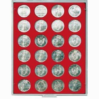 Münzenbox mit runden Vertiefungen Ø 41 (Lindner 2160)