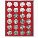 Münzenbox mit runden Vertiefungen Ø 41...