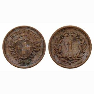 Schweiz 1 Rappen  1910 B