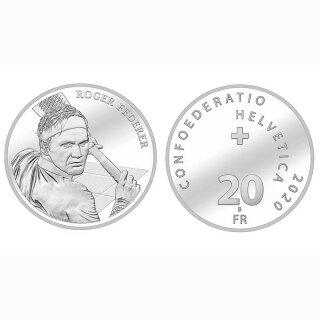 Schweiz 20 Franken 2020 B Roger Federer stgl