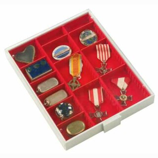 Münzenbox mit runden Vertiefungen Fachabmessung 65x280 (Lindner 2403)