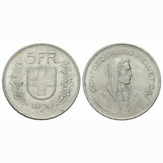 Schweiz 5 Franken 1939 B Tell