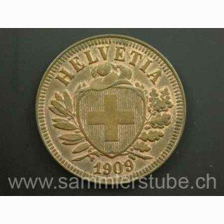 2 Rappen 1909 B Schweiz