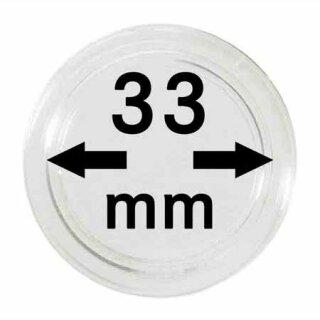 Münzenkapseln Ø 33 mm (100er Pack)