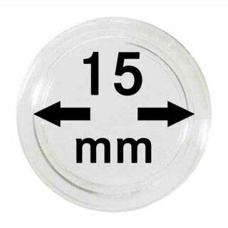 Münzenkapseln Ø 15 mm (10er Pack)