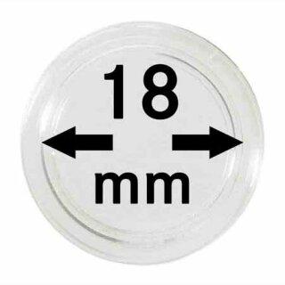 Münzenkapseln Ø 18 mm (10er Pack)