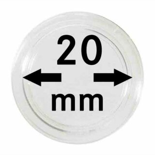 Münzenkapseln Ø 20 mm (10er Pack)