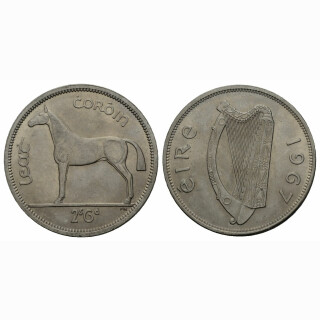 Irland 1/2 Crown 1967