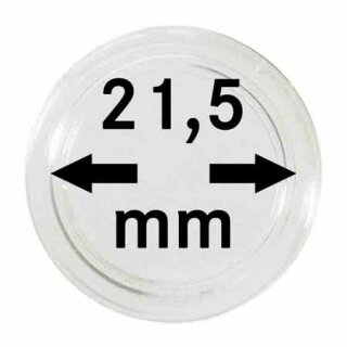 Münzenkapseln Ø 21.5 mm (10er Pack)
