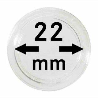 Münzenkapseln Ø 22 mm (10er Pack)