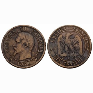 Frankreich  10 Centimes 1856 A Napoleon III
