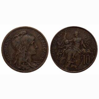 Frankreich  10 Centimes 1916