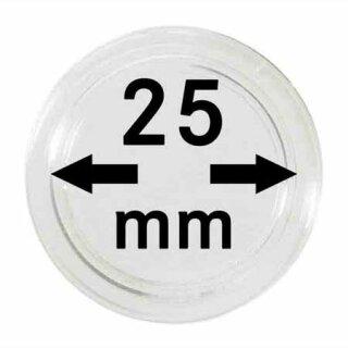 Münzenkapseln Ø 25 mm (10er Pack)