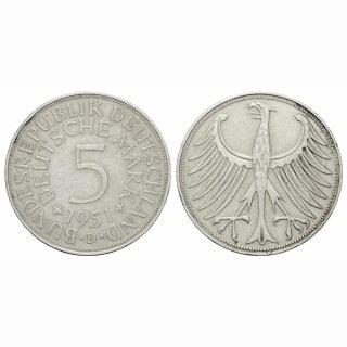 Deutschland 5 Mark 1951 D