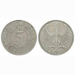 Deutschland 5 Mark 1951 G