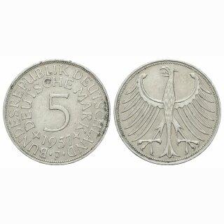 Deutschland 5 Mark 1957 J
