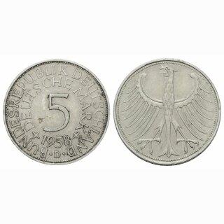 Deutschland 5 Mark 1958 D