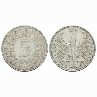 Deutschland 5 Mark 1958 G