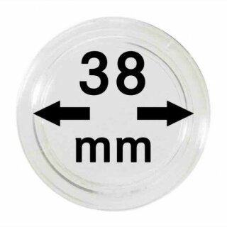Münzenkapseln Ø 38 mm (10er Pack)