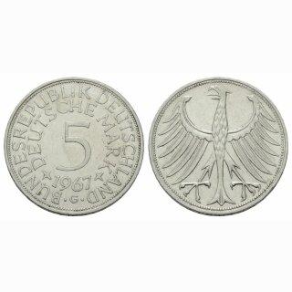 Deutschland 5 Mark 1967 G