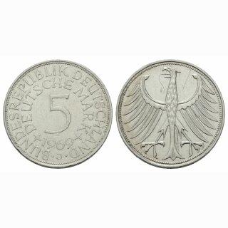 Deutschland 5 Mark 1969 J