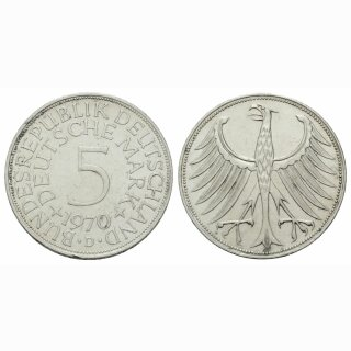 Deutschland 5 Mark 1970 D