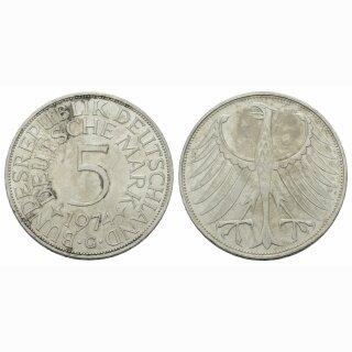 Deutschland 5 Mark 1974 G