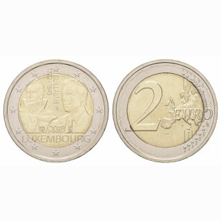 Luxemburg 2 Euro 2018 175 Jahre G. D. Guillaume I