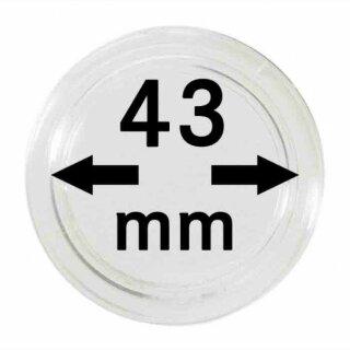 Münzenkapseln Ø 43 mm (10er Pack)