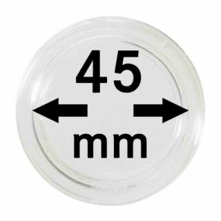 Münzenkapseln Ø 45 mm (10er Pack)